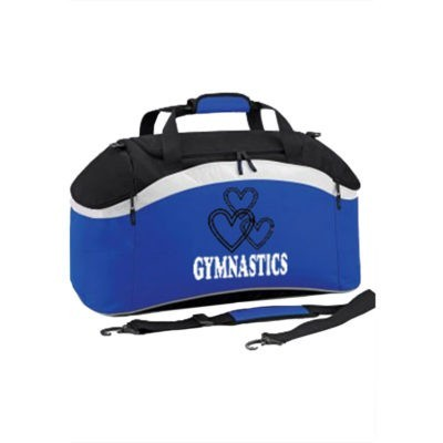 GIRLS BLUE HOLDALL WITH GYMNASTICS EDIT