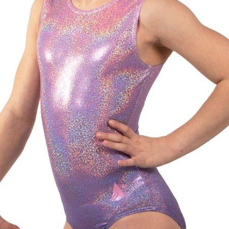 MERIDA O27 Purple to pink ombre gymnastics leotard