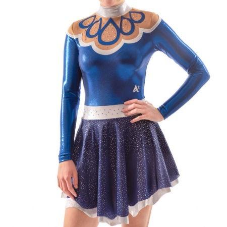 Maelys MAJ504 Navy Skirted Leotard dress majorettes rhythmic gym outfit