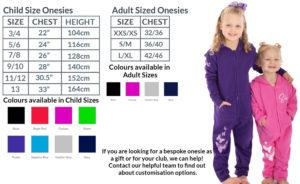 Onesies size chart