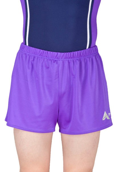 PBC J00 PBC J07 Purple lycra gym shorts boys