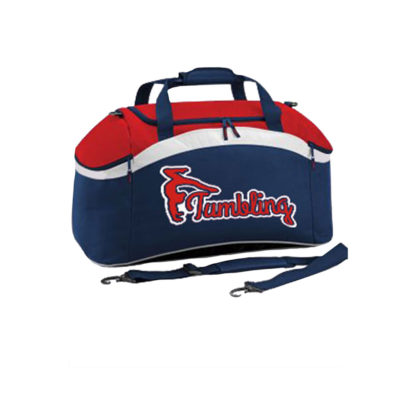 RED WHITE BLUE HOLDALL KIT BAG TUMBLING EDIT 4