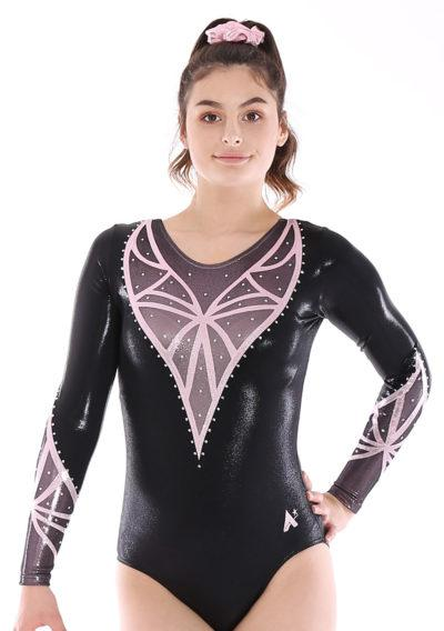 ROSE K441 Black foil with pink detail and diamante front
