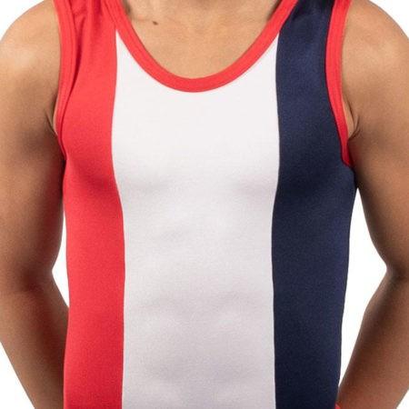 SCOTT BV487 Bright boys gym leotard red white navy