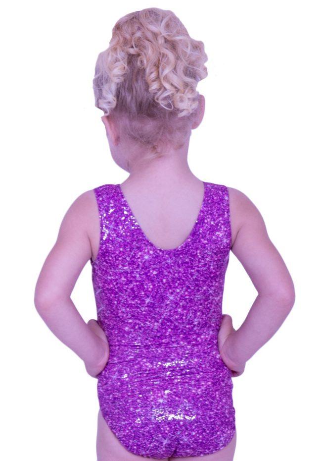 SP L145 cute pink basic girls training leotard for gymnastics