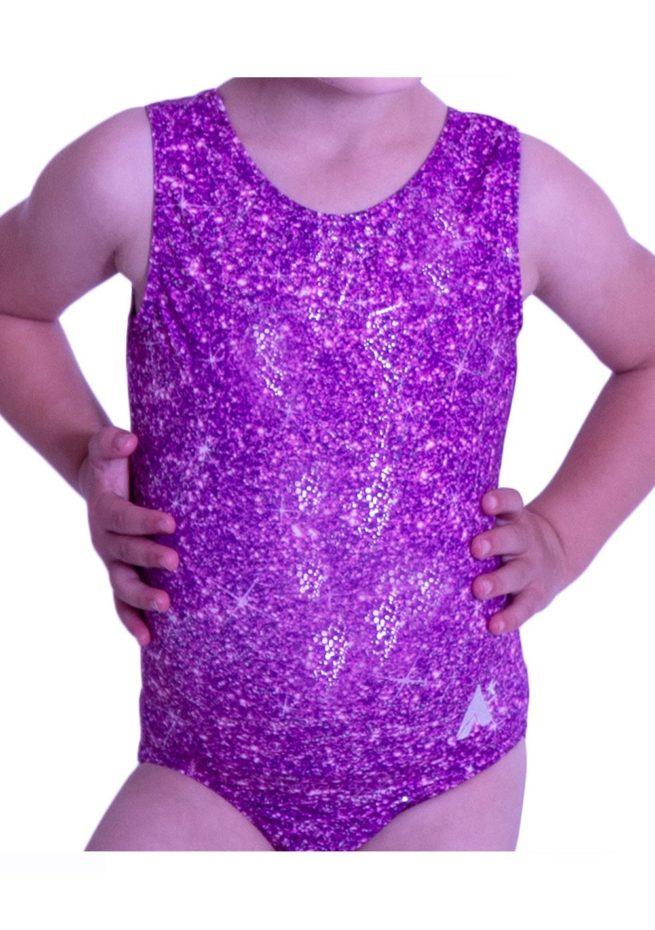 SP L145 pink purple glitter sparkly cute gymnastics leotard