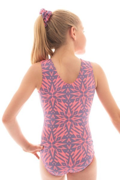 SP L151 denim destiny patterned leotard back
