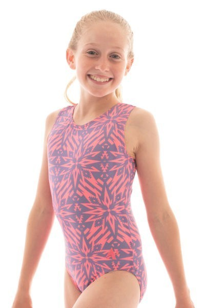 SP L151 denim destiny patterned leotard side