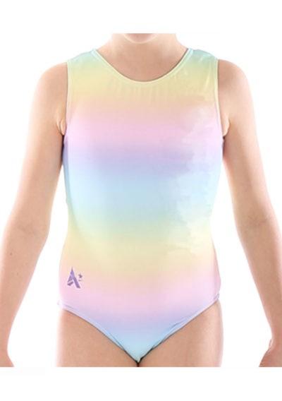 SP L160 girls rainbow pastle gym leotard