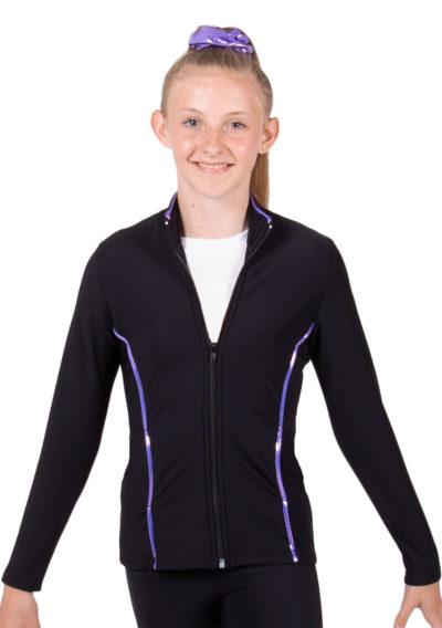 TS12 Black and Purple tracksuit jacket