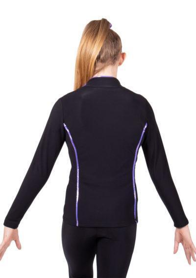TS12 Black and Purple tracksuit jacket back