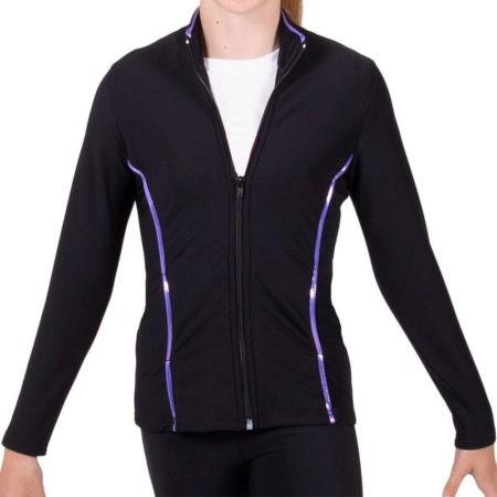 TS12 Black and Purple tracksuit jacket sports