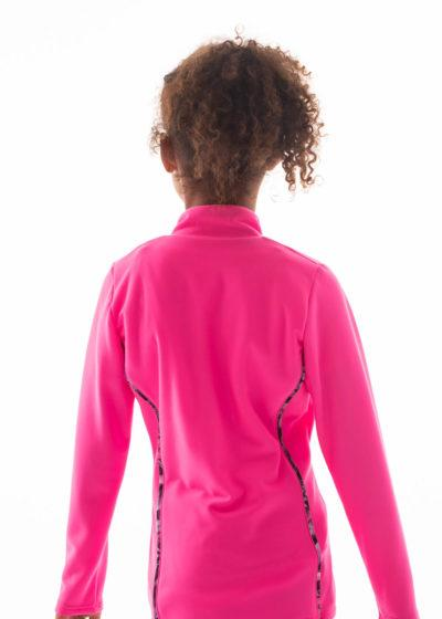 TS12 Hot pink girls tracksuit jacket with piping back