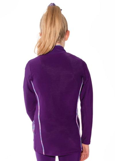 TS12 purple tracksuit jacket with piping detail back