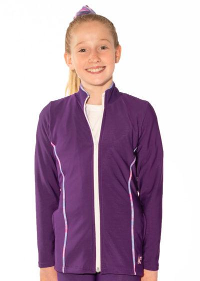 TS12 purple tracksuit jacket with piping detail main
