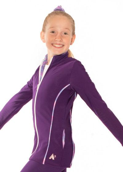 TS12 purple tracksuit jacket with piping detail side
