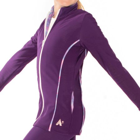 TS12 purple tracksuit jacket with piping detail sports jacket