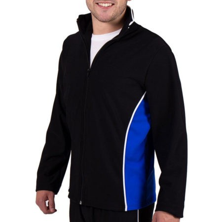 TS12B Black and Blue tracksuit jacket for gymnastics