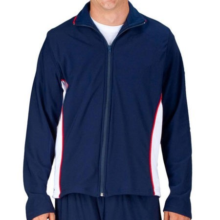 TS12B NAVY WHITE AND RED MENS GYMNASTOCS TRACKSUIT JACKET