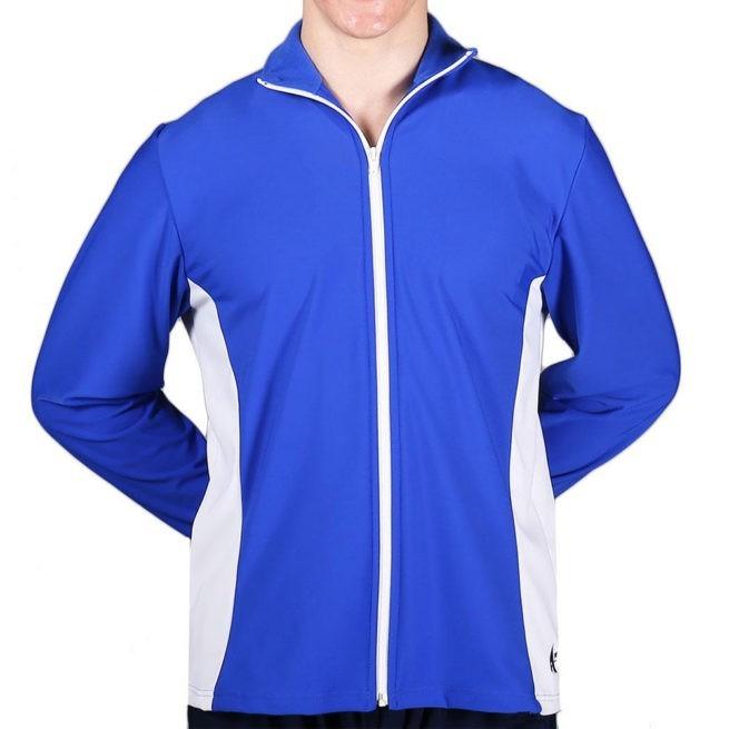 TS12B Royal Blue and White Mens Tracksuit jacket