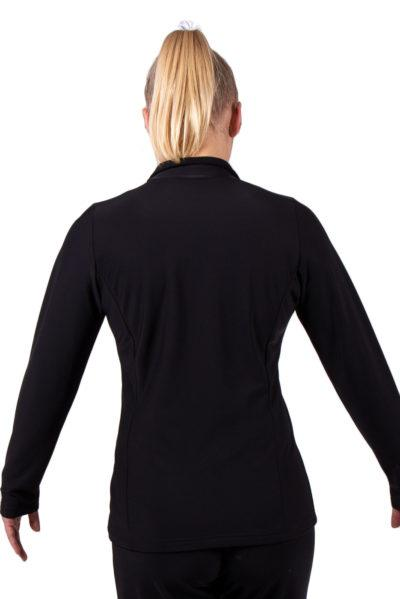 TS12H Black half zip ladies tracksuit jacket back