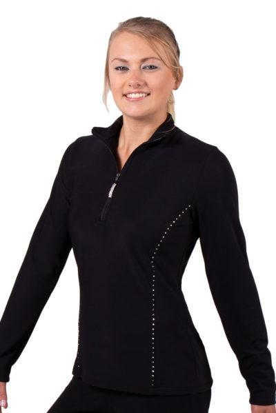 TS12H Black half zip ladies tracksuit jacket side1