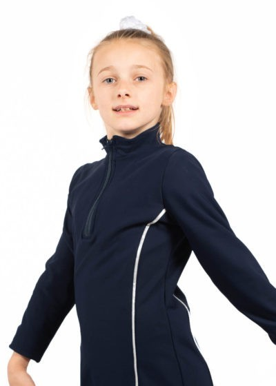 TS12H Navy Microtex Jacket with Silver Piping side Edit