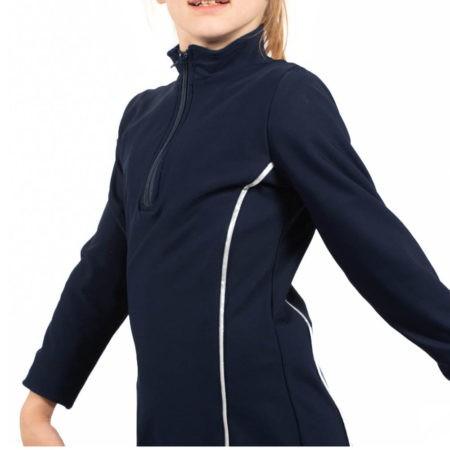 TS12H Navy Microtex Jacket with Silver Piping sports jacket