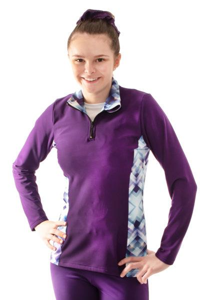 TS12H Purple jacket with pattern sides front