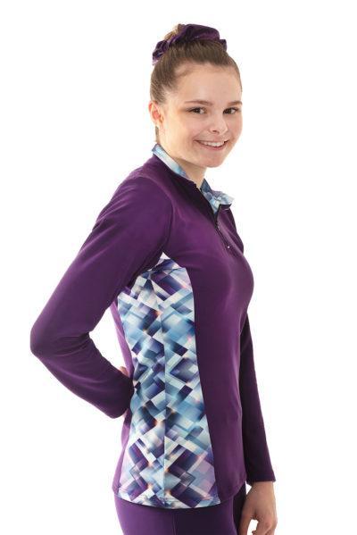 TS12H Purple jacket with pattern sides side
