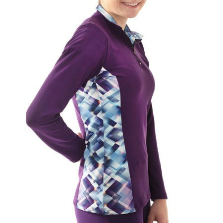 TS12H Purple jacket with pattern sides sports top