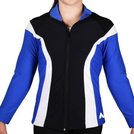 TS17 Black Royal and White ladies tracksuit jacket for sports