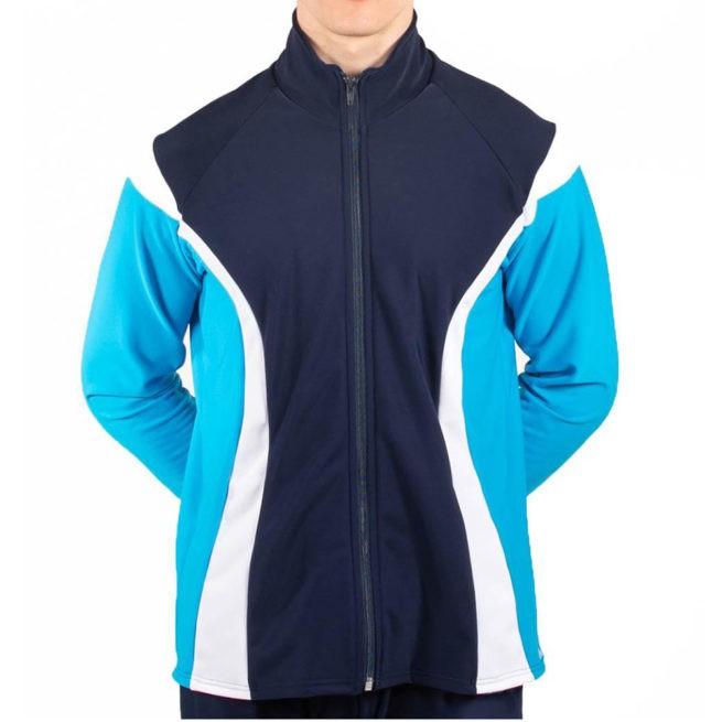 TS17B Male tracksuit jacket navy boys gymnastics jacket