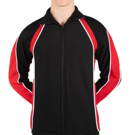 TS19B Mens Black and Red sports tracksuit jacket