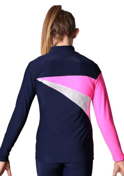 TS20 Navy Silver and Pink ladies tracksuit jacket back