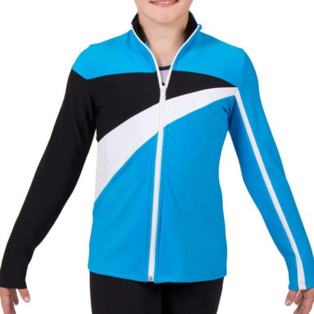 TS20 Turquoise Blue tracksuit jacket with White and Black Detail