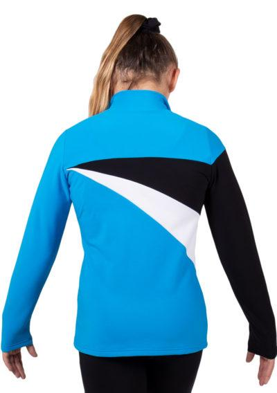 TS20 Turquoise Blue tracksuit jacket with White and Black Detail back