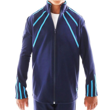 TS40B Navy tracksuit with blue mens sports jacket