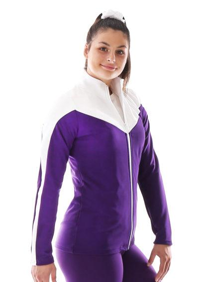 TS55 Purple and white tracksuit jacket side1