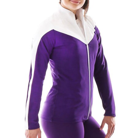 TS55 Purple and white tracksuit jacket sports top