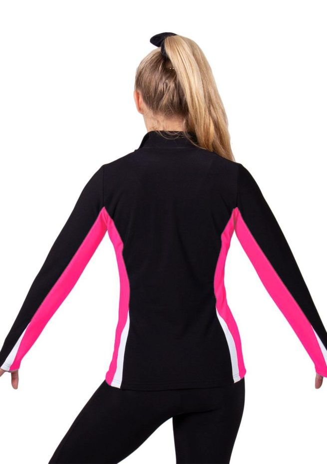 TS57 Black white and pink girls ladies tracksuit back