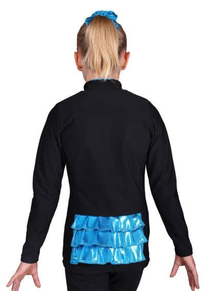 TS62 Girls tracksuit with ruffle frilly back details back