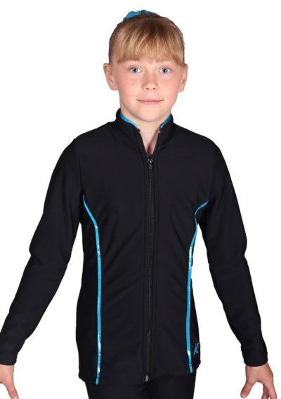 TS62 Girls tracksuit with ruffle frilly back details front