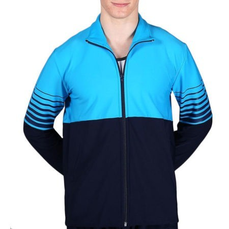 TS63B Navy and Blue mens tracksuit jacket for gymnastics