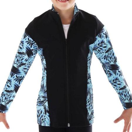 TS69 black and blue patterned tracksuit jacket for gymnastics