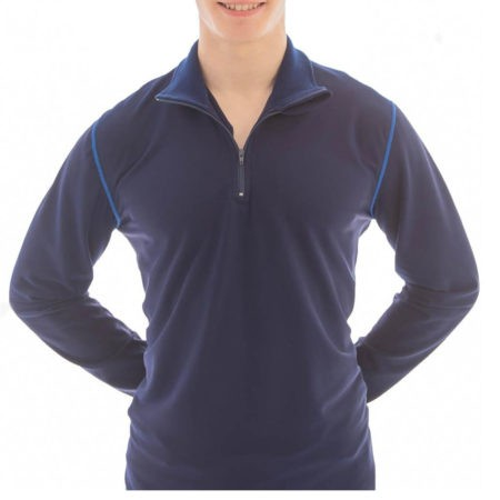 TS6BH Half zip navy mens tracksuits for sports