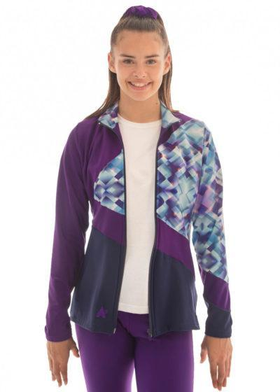 TS70 Purple Tracksuit Jacket with Patterned Design front