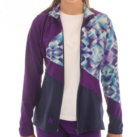 TS70 Purple Tracksuit Jacket with Patterned detail sports jacket
