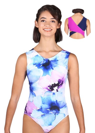 Z261 Rona monet leotard with open back back 1