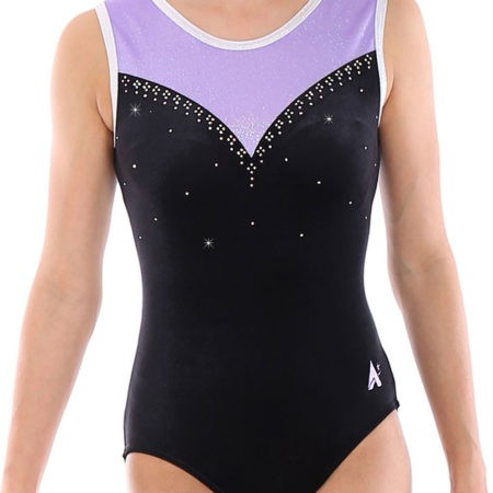 Z440 Ambery black velour with purple mesh and diamante